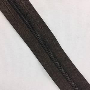 Bilde av glidelås metervare brun